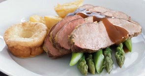 Yearling Roast Beef with Horseradish Yorkshire puddings