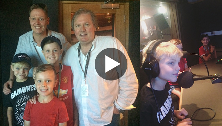 CEO Matt Seindells and his sons on 3AW's Big House