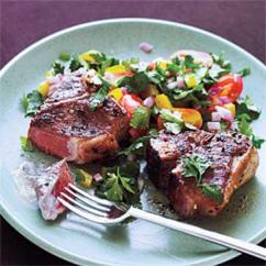 Greek Lamb Chops and Mint Yoghurt Sauce