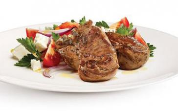 Minted Lamb Loin Chops with Tomato Salad