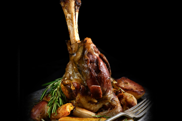 Oven roasted Lamb Shanks