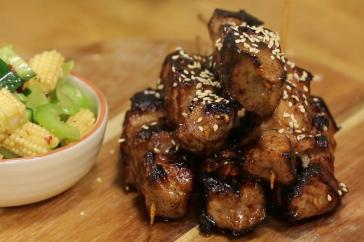 Sarah Tiong's Honey Soy Pork Skewers