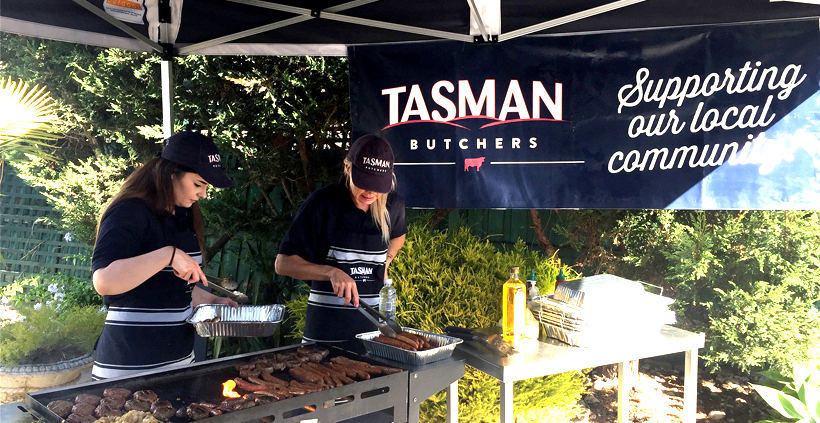 Community BBQ supported by Tasman Butchers