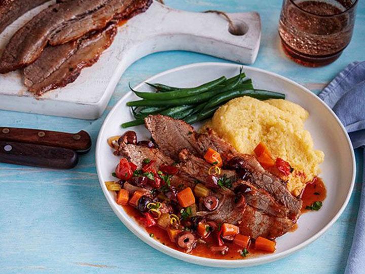 Mediterranean style beef brisket with gremolata