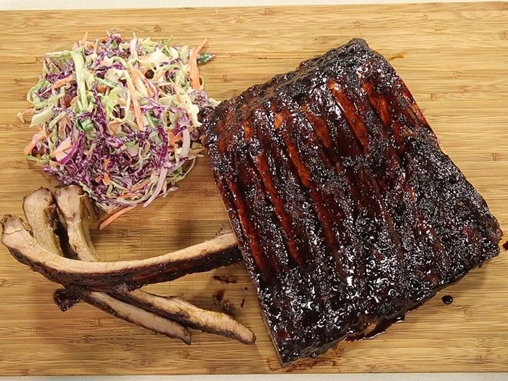 Sarah Tiong's glazed pork ribs with garlic