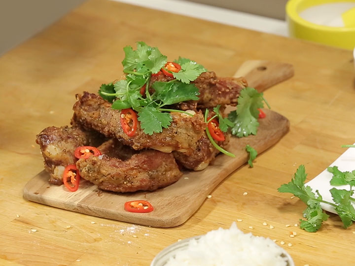 Sarah Tiong's salt and pepper pork ribs