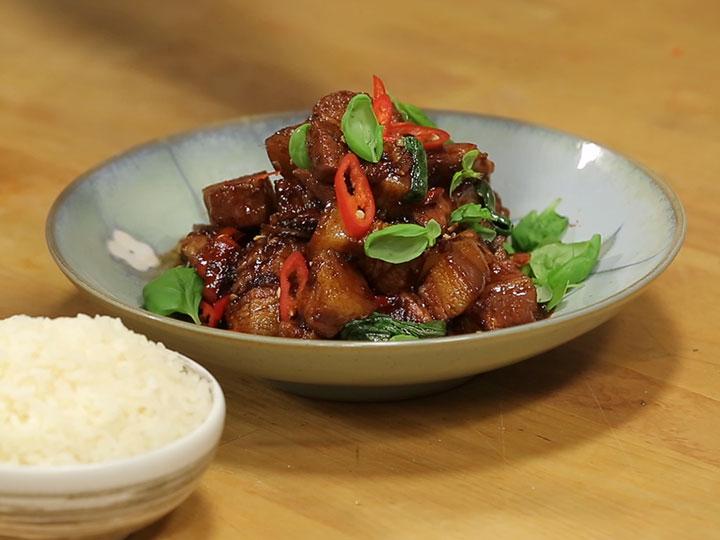 Sarah Tiong's sticky pork belly
