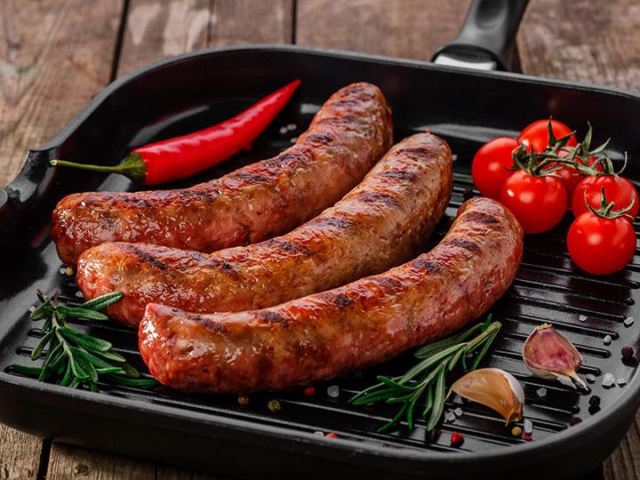 BBQ honey sausages & sambal