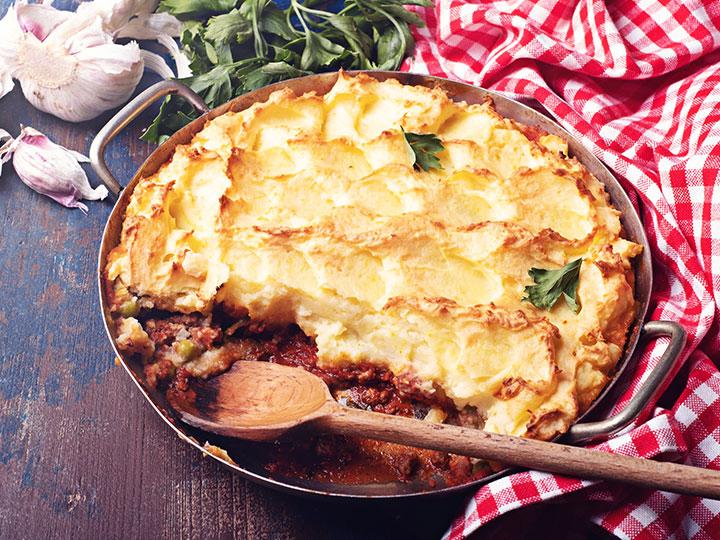 Roasted lamb mince shepherd's pie