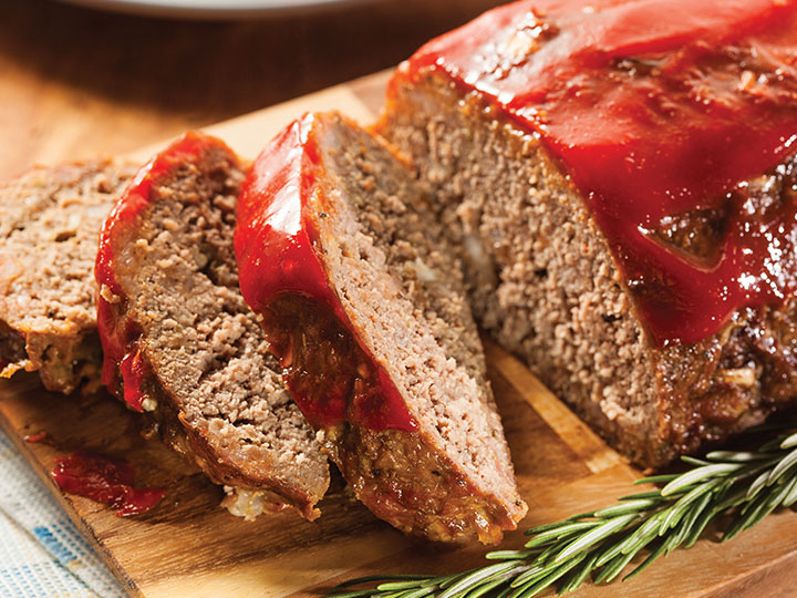 Classic beef mince meatloaf