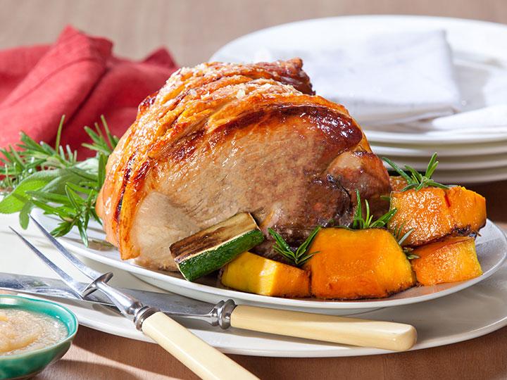 Roast Leg of Pork with Crackling