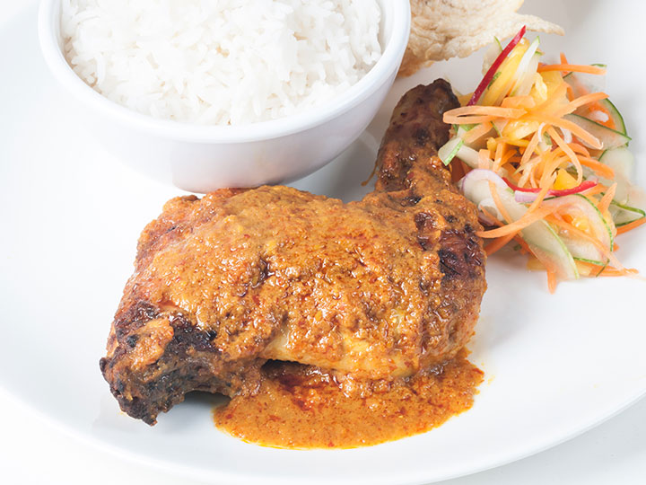 Maryland chicken rendang with cardamom