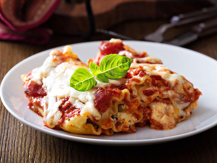 Easy lasagne roll-ups