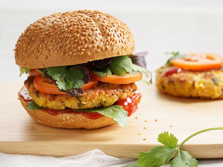 Quick vegie burger