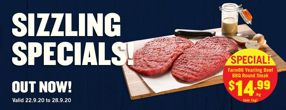 Farm88 Yearling Beef BBQ Round Steak