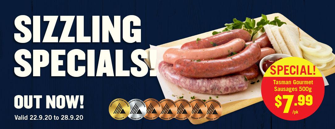 Tasman Gourmet Sausages Assorted Varieties 500g