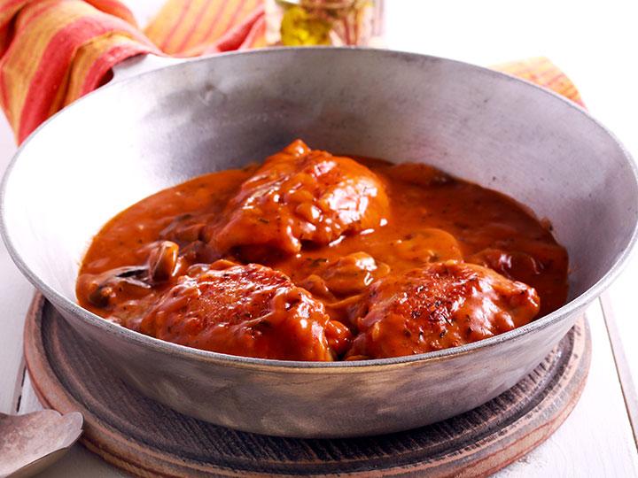 Chicken thigh valencia casserole
