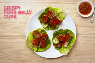 Pork belly lettuce cups