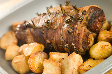 Slow Roasted Greek Leg of Lamb