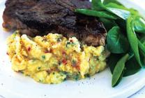 Tasman Yearling T-Bone Steak with Chilli Corn Mas