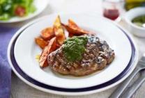 Chimichurri Rump Steak with Paprika Wedges