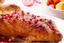 Festive Duck with Raspberry and Thyme served with Pomegranate Sauce