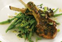 Grilled Lamb Cutlets with Minty Gremolata Sauce