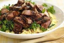 Hot Harissa Lamb with Couscous