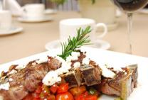 Lamb Loin Chops with Ratatouille and Feta
