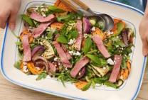 Steak and vegetable salad