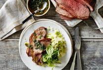 Beef rump roast with chimichurri