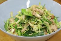 Sarah Tiong's pulled pork, brussel sprout & apple salad