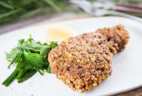 Gluten free crispy crumbed pork loin chops