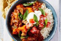Indian beef casserole
