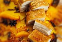 Crispy roast pork belly with sweet orange vinegar