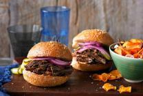 Texas pulled brisket burger