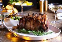 Whole lamb leg roast