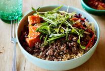 Korean beef mince bulgogi bowl