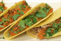Sarah Tiong's crispy pulled pork tacos