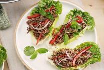 Beef mince lettuce wraps