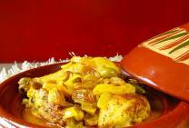 Chicken maryland tagine