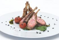 Traditional lamb cutlets with basil sauce