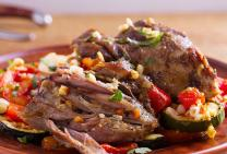 Twice cooked lamb forequarter roast