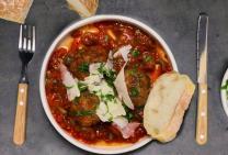 Spicy Italian pork meatballs