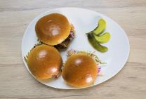 Pulled pork sliders with crunchy slaw