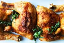 Roasted chicken maryland with chilli and honey