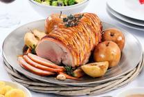 Crackling rolled pork leg roast