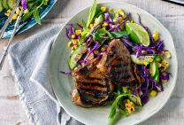 Sticky thai glazed lamb loin chops