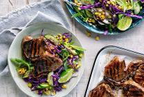 Sticky thai glazed lamb loin chops