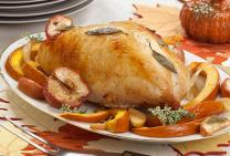 Roast turkey buffé with nut stuffing